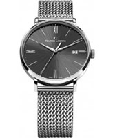 Buy Maurice Lacroix Mens Black and Silver Eliros Watch online