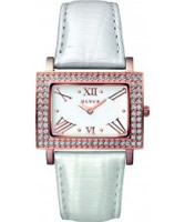 Buy Mango Ladies Samba White Dial Pearl White Leather Strap Watch online