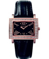 Buy Mango Ladies Samba Black Dial Leather Strap Watch online