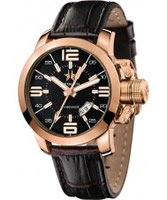Buy Metal CH Mens Initial Gold Brown Watch online