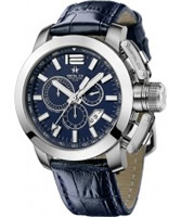 Buy Metal CH Mens Chrono Dark Blue Watch online