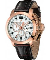 Buy Metal CH Mens Chrono Gold Brown Watch online