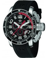 Buy Metal CH Mens Diver Black Silicone Watch online