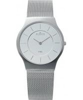 Buy Skagen Mens White and Silver Klassik Mesh Watch online