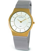 Buy Skagen Mens Steel Chrome Gold Watch online