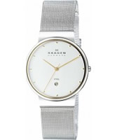 Buy Skagen Mens White and Silver Klassik Mesh Watch online