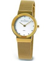 Buy Skagen Ladies White Gold Klassik Mesh Watch online