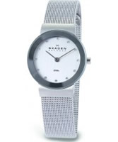 Buy Skagen Ladies Chrome Silver Klassik Mesh Watch online