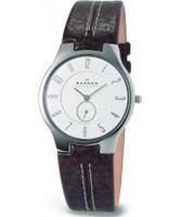 Buy Skagen Mens White and Brown Klassik Watch online