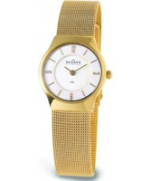 Buy Skagen Ladies White and Gold Klassik Mesh Watch online