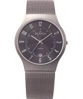 Buy Skagen Mens Grey Klassik Titanium Mesh Watch online