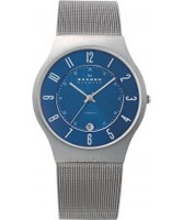 Buy Skagen Mens Blue Klassik Titanium Mesh Watch online