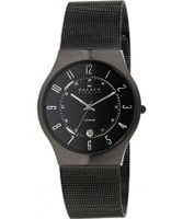 Buy Skagen Mens Black Klassik Titanium Mesh Watch online