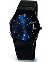 Buy Skagen Mens Blue and Black Aktiv Titanium Watch online