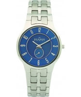 Buy Skagen Mens Blue Silver Watch online