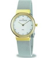 Buy Skagen Ladies White Silver Klassik Mesh Watch online