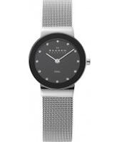 Buy Skagen Ladies Black and Silver Klassik Mesh Watch online