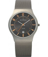 Buy Skagen Mens Grey Klassik Titanium Mesh Watch online