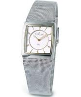 Buy Skagen Ladies White Silver Mesh Watch online