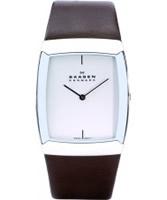 Buy Skagen Mens White Brown Watch online