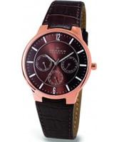 Buy Skagen Mens Multifunction Brown Watch online