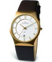 Buy Skagen Mens Leather White Brown Watch online