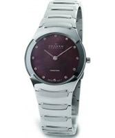 Buy Skagen Ladies Swiss Brown Steel Watch online
