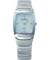 Buy Skagen Ladies Swiss White Steel Watch online