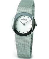 Buy Skagen Ladies White Steel Klassik Mesh Watch online