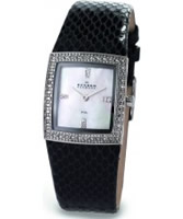 Buy Skagen Ladies Leather White Black Snake Watch online
