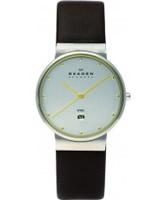 Buy Skagen Mens Silver Brown Watch online