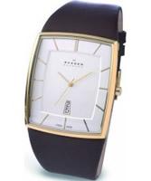 Buy Skagen Leather White Brown Watch online