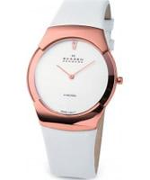 Buy Skagen Ladies Swiss Rose Gold White Watch online