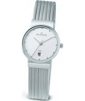 Buy Skagen Ladies Chrome Patterned Klassik Watch online