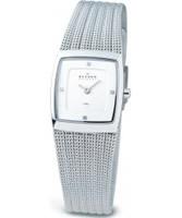 Buy Skagen Ladies White and Steel Klassik Mesh Watch online