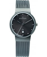 Buy Skagen Ladies Charcoal Steel Klassik Mesh Watch online