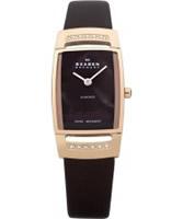 Buy Skagen Ladies Diamonds Rose Gold Brown Watch online