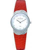 Buy Skagen Ladies Steel Orange Flower Glitz Watch online