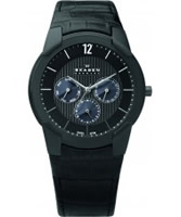 Buy Skagen Mens Steel Black Multifunction Watch online
