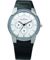 Buy Skagen Mens Steel White Black Multifunction Watch online