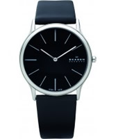 Buy Skagen Mens Black Klassik Super Slim Watch online