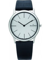 Buy Skagen Mens Chrome Black Klassik Super Slim Watch online