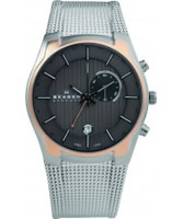 Buy Skagen Mens Steel Rose Gold Accents Watch online