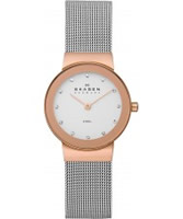 Buy Skagen Ladies Rose Gold Steel Klassik Mesh Watch online