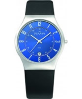 Buy Skagen Mens Blue and Black Klassik Watch online