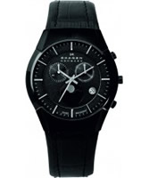 Buy Skagen Mens Black Chronograph Watch online