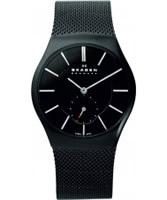 Buy Skagen Mens Black Steel Watch online