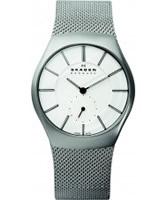 Buy Skagen Mens Silver Steel Watch online