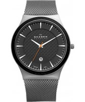 Buy Skagen Mens Grey and Black Titanium Watch online