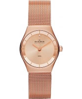 Buy Skagen Ladies Rose Gold Klassik Mesh Watch online